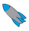 Rocket start up launch innovation vector image