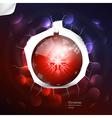 Abstract christmas ball on dark background vector image