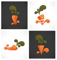 carrot symbols vector image vector image