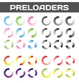 Preloaders Buffering And Loading Icon Set vector image vector image