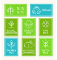 set of design elements icons and badges vector image vector image