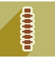flat icon with long shadow human spine vector image