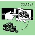 Mobile banking dollar vector image