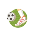 Football Round Sticker vector image