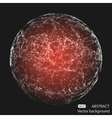 Abstract mesh spheres Futuristic atom vector image