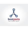 Abstract parts logo icon concept Logotype template vector image