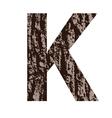 bark letter K vector image