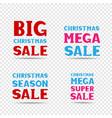 christmas sale message set vector image