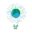 earth day cartoon card vector image