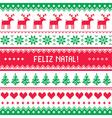 Feliz natal card - scandynavian christmas pattern vector image