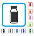 full bottle framed icon vector image