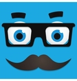 Hipster Avatar with Geek Glasses And Mustache vector image