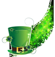 Leprechaun hat and abstract clover wave vector image