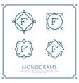 Letter F Monogram vector image