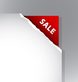 Paper corner with Sale sign vector image