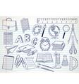School doodle vector image