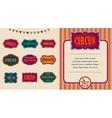 Vintage Circus labels set vector image