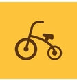 Tricycle icon design Bike bicycle Tricycle vector image