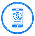 mobile payment rounded grainy icon vector image