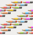pencils background seamless vector image