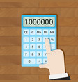 use calculator in workplace vector image