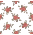 Seamless pattern with abstract roses vector image vector image