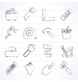 Construction objects and tools icons vector image