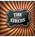 circus labvel on rays background vector image vector image