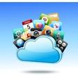 Cloud 3d storage vector image