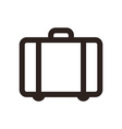 Suitcase - travel icon vector image