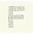 Letter F Golden Monogram Design element vector image