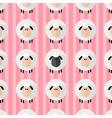 Cute Pink Sheep Wallpaper vector image vector image
