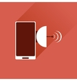 Flat web icon with long shadow mobile navigation vector image