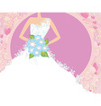 Abstract Beautiful bride card vector image