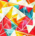 bright hipster geometric seamless pattern vector image