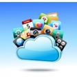 Cloud 3d storage vector image