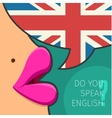Concept of studying English vector image