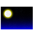 night background with moonlight vector image