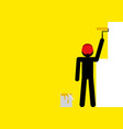 painting the wall yellow vector image