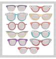 retro sunglasses set vector image