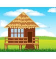 Small lodge on nature vector image