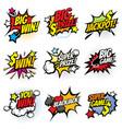 vintage pop art comic bubbles with gambling vector image