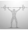 weightlifter poly gray vector image