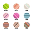 Isolated abstract colorful round shape logo vector image