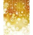 Christmas balls over orange bokeh EPS 8 vector image vector image