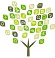 Tree background of eco web icons vector image vector image