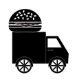 fast food truck icon vector image