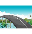 A curve road above the lake vector image vector image