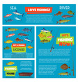 poster for fishing club trip vector image vector image