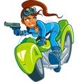 Motorcycle Spy Girl vector image vector image